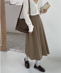 front box pleats skirt/2color