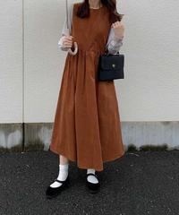 corduroy sleeveless dress/3color