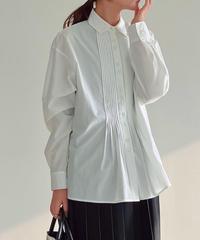 pin tuck flare shirt/2color