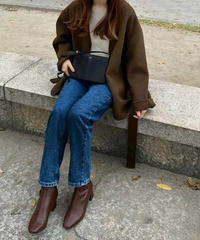 (即納販売)gown half coat/3color【wool 100%】