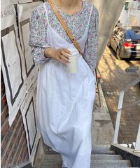 cotton linen camisole dress