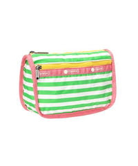 [レスポートサック] lesportsac Travel Cosmetic SHOREY STRIPE GREEN 7315 F175 ポーチ