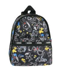 [レスポートサック] lesportsac スヌーピー Basic Backpack Chalkboard Snoopy 7812 G057 バックパック