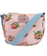 [キャスキッドソン] cath kidston キッズ ハーフムーン ハンドバッグ ミニガーデンクラブ Vintage Pink 105135715902102 ショルダーバッグ