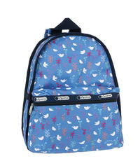 [レスポートサック] lesportsac Basic Backpack Song Birds Blue 7812 D916 バックパック