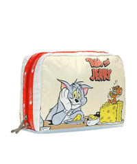 [レスポートサック] lesportsac Tom & Jerry Extra Large Rectangular Cosmetic LUNCHTIME 7121 K781 ポーチ
