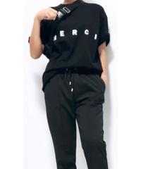 【33℃】MERCI Tシャツ (ブラック)