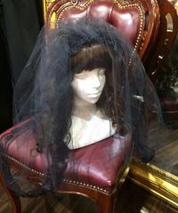 【Morun Muuna Stoik】モランムーナストイック チュールベールヘッドドレス  Black