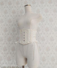 【ATELIER PIERROT】アトリエピエロ 編み上げショートコルセット  アイボリー×ホワイト