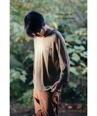 Hiker's RIB T-shirt  (8sleeve)  size: S/ M/ L