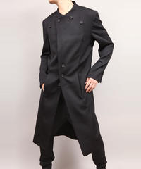 LAPEL BUTTON COAT/BLACK