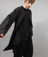 shop coat type shirt/BLACK