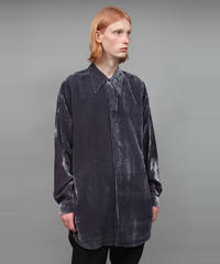 VELVET SHIRT/DARK GRAY