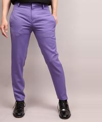 STRETCH TWILL TAPERED PANTS/PURPLE
