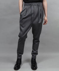 WOOL SARROUEL PANTS/GRAY
