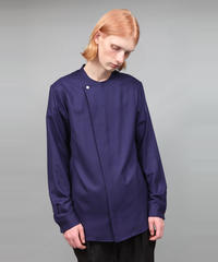 2/80 VIYELLA NO COLLAR SHIRT/NAVY