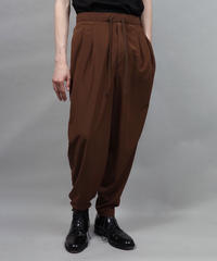 thin polyester tapered pants/L.BROWN