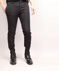 SLIT HEM PANTS/BLACK
