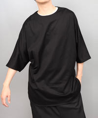 CLOTH BIG SILHOUETTE PULLOVER/BLACK