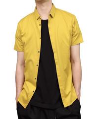 60/2T-CLOTH SHORT POPINT COLLAR SHORT SLEEVE/MUSTARD