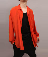 OPEN COLLAR SHIRT/ORANGE
