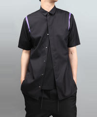 ACTION PLEATS SHIRT BLACK