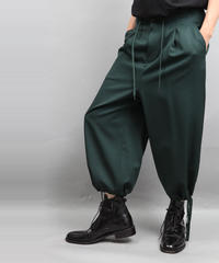 DRAW CODE WIDE PANTS GREEN