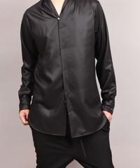 SHAWL COLLAR SHIRT/BLACK