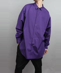 DOLMAN SLEEVE BIG SILHOUETTE SHIRT PURPLE