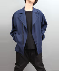 ZIP SHIRT BLOUSON BLUE