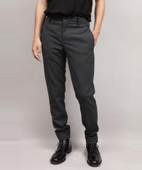 VINTAGE WOOL TAPERED PANTS/BLACK