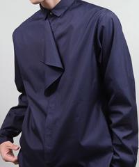 buttoned drape shirts/D.NAVY