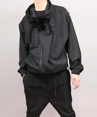 COWL NECK BLOUSON/BLACK