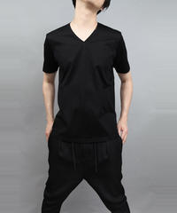 60/2T-CLOTH V-NECK T-SHIRT/BLACK