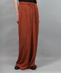 thin polyester wide pants/ORANGE
