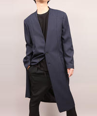 COLLARLESS COAT/NAVY