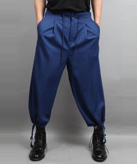 DRAW CODE WIDE PANTS BLUE