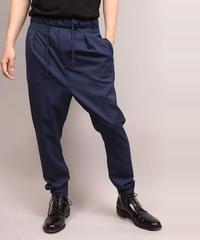 STRETCH TWILL SARROUEL PANTS/BLUE