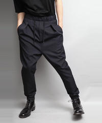 WOOL TWILL SAROUEL PANTS/NAVY