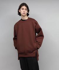 double knit sweatshirts/BROWN