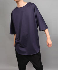 CLOTH BIG SILHOUETTE PULLOVER/NAVY