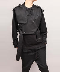 TRENCH BLOUSON/BLACK