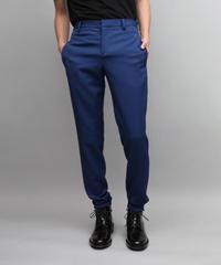 WOOL TWILL TAPERED PANTS/BLUE