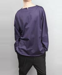 60/2 T-CLOTH SLIT BOAT NECK T-SHIRT/ PURPLE