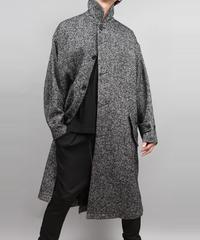 BALMACAAN TWEED COAT/BLACK