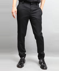 WOOL TWILL TAPERED PANTS BLACK