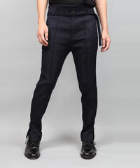 HEM ZIP SLIM PANTS/NAVY