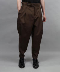 2TACK TAPERD PANTS/BROWN