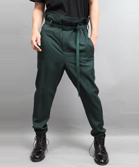 PAPER BAG TAPERD PANTS GREEN