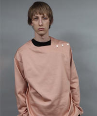 buttoned pull-over jersey/PINK